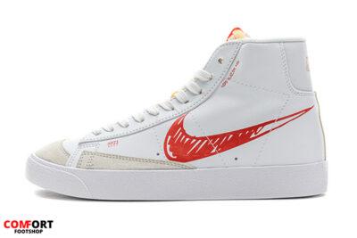 Nike Blazer Mid 77 Sketch White Red